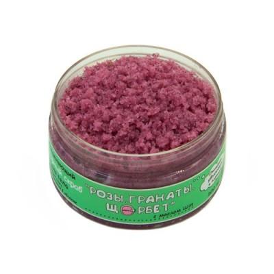 Сахарный скраб на основе масла ши (каритэ) «Роза. Гранаты. Шербет.», 200 мл Meela Meelo