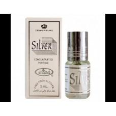 Арабские натуральные масляные духи Silver, 6 мл
