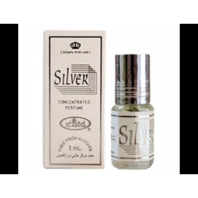 Арабские натуральные масляные духи Silver, 3 мл (женские) Al Rehab
