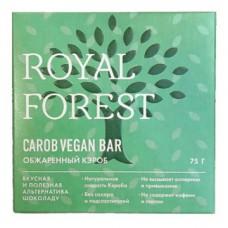 """Шоколад """"Веганский"""", из обжаренного кэроба Royal Forest, 75 г"""