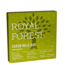 """Натуральный шоколад """"Миндаль"""" Carob milk bar Royal Forest, 75 г"""
