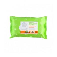 Детские очищающие салфетки для ежедневного ухода с экстрактом ромашки, 72 шт., Little Siberica