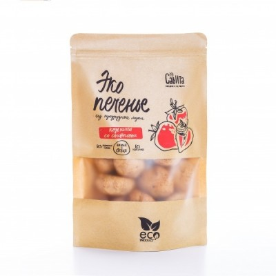 Эко Печенье из кукурузной муки Клубника со Сливками (280 гр) Савита