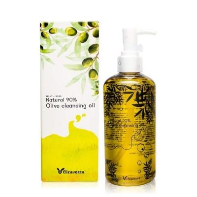 Гидрофильное масло с натуральным маслом оливы ELIZAVECCA Natural 90% Olive Cleansing Oil, 300 мл