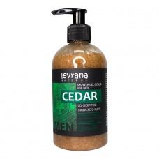 Гель-скраб для душа мужской Cedar со скорлупой кедра, 300 мл (Levrana)