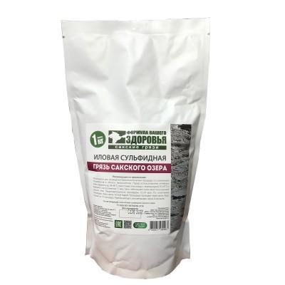 Грязь Сакского озера илово-сульфидная, 1 кг (Формула Здоровья)