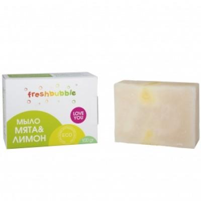Универсальное экологичное мыло Мята и лимон, Freshbubble, 100 гр, Levrana