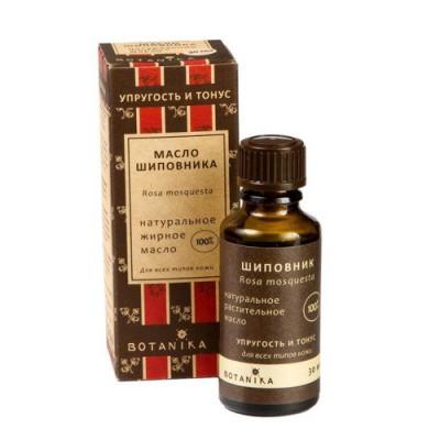 Натуральное косметическое масло Шиповника, 30 мл Botanika