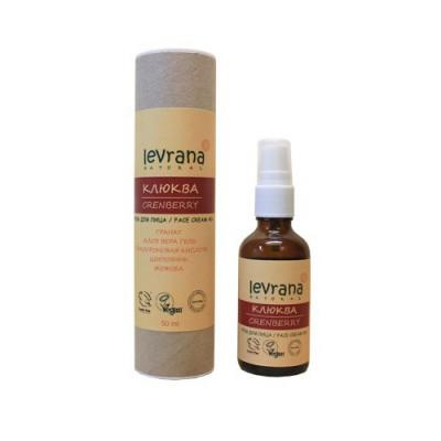 Натуральный крем для лица Клюква 40+, 50 мл (Levrana)