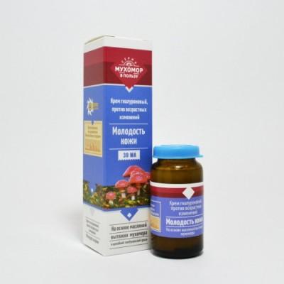 Крем омолаживающий Молодость кожи на основе масляной вытяжки мухомора, 30 мл (Бизорюк)