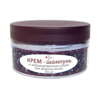 Крем-шампунь с активированным углем для жирных волос (Микролиз), 200 мл
