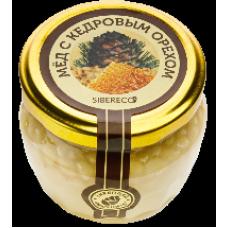 Мед цветочный с кедровым орехом 95 мл (Sibereco)