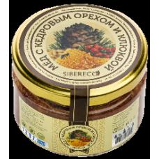 Мёд с кедровым орехом и клюквой 220мл (Sibereco)