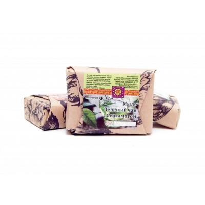 Натуральное мыло Зеленый чай с бергамотом 50 г (Микролиз)