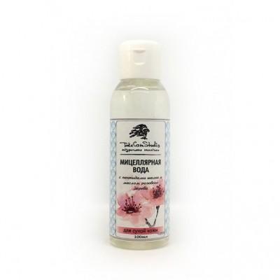 Мицеллярная вода с Пептидами шелка и маслом Розового дерева для сухой кожи, 200 мл