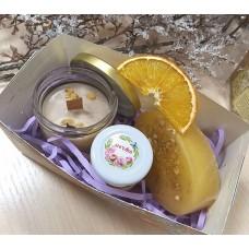 Подарочный набор ручной работы Исполнение желаний с массажной свечой
