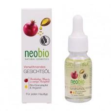 Насыщенное масло для лица с био-гранатом и аргановым маслом NeoBio, 15 мл
