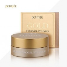 Гидрогелевые патчи для век против морщин Petitfee +5 Gold Hydrogel Eye Patch с золотым комплексом, 60 шт.