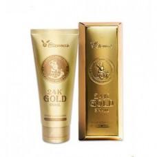 Пенка для умывания с муцином улитки и золотом Elizavecca 24k Gold Snail, 180 мл