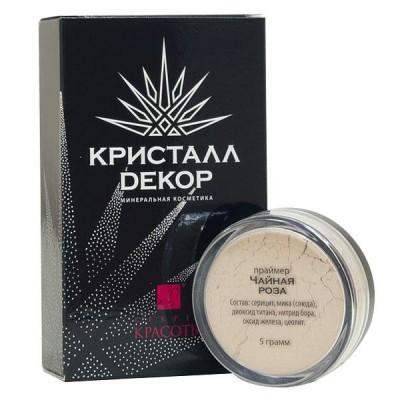 """Минеральный праймер """"Чайная Роза"""" Кристалл Декор, 5 г"""