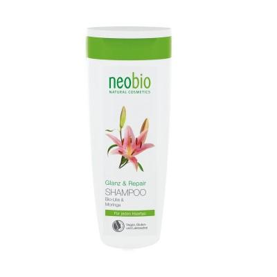 """Шампунь """"Восстановление"""" для блеска волос с био-липой и морингой NeoBio, 250 мл"""