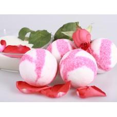 """Бурлящий шар для ванны """"Роза в молоке"""" с пеной"""