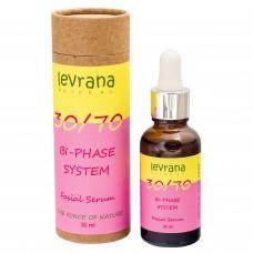 """Двухфазная сыворотка для лица """"30/70"""" с маслом дамасской розы (Levrana), 30 мл"""