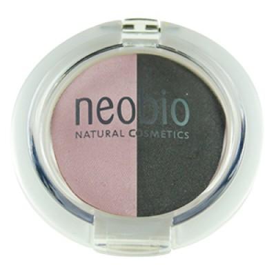 """Двойные тени для век """"Тон 01 розовый бриллиант""""  (NeoBio)"""