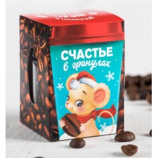 """Кофейные зерна в шоколаде """"Счастье в гранулах"""", 30 г"""