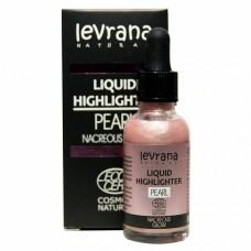 """Хайлайтер жидкий """"Nacreous glow"""" Pearl, розовый Levrana"""
